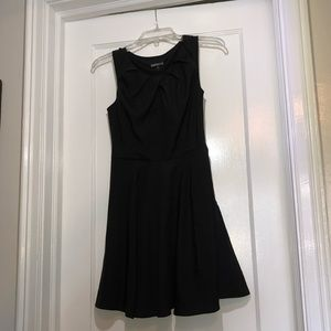 Express black keyhole skater dress